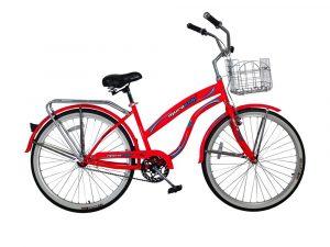 Bicicleta a pedal 26 con cesta naranja