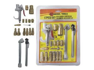 Kit de accesorios para compresor DIESEL TOOLS 17 Piezas